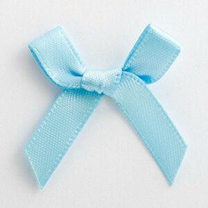 Mini Satinschleife 3cm aus 6mm Band (100 Stück) – Hellblau