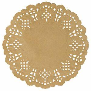VINTAGE Glas Untersetzer beige, Durchmesser 10 cm