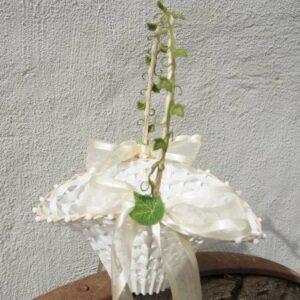 Blumenkinderkörbchen weiß -Efeu-