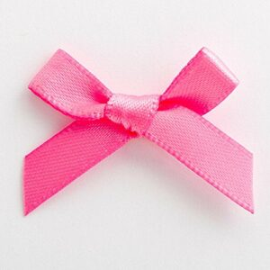 Mini Satinschleife 3cm aus 6mm Band (100 Stück) – Hot Pink