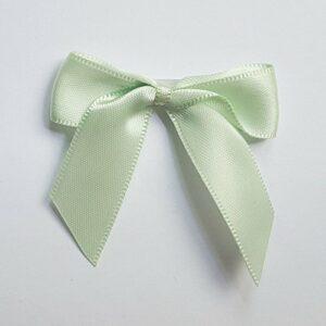 5 cm Satinschleife (Selbstklebend) 12 Stück – Hellgrün