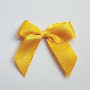 5 cm Satinschleife (Selbstklebend) 12 Stück – Gelbgold – Sonnengelb