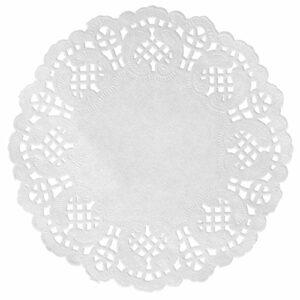 10 Stück Tortenspitze weiß, Durchmesser 10 cm