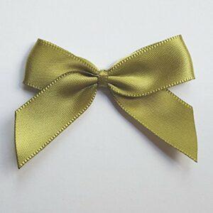 5 cm Satinschleife (Selbstklebend) 12 Stück – Olivgrün