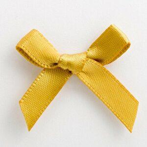 Mini Satinschleife 3cm aus 6mm Band (100 Stück) – Gold