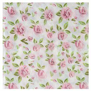 20 Stück Papierservietten 'Rose'