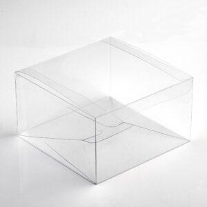 10 Stück  Kartonage ASTUCCIO Trasparente, transparent, 80 x 80 x 35