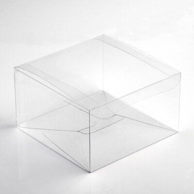 10 Stück  Kartonage ASTUCCIO Trasparente, transparent, 100 x 100 x 50