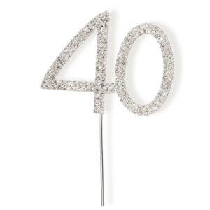 Diamant 40  Silber 4,5x 5,5cm